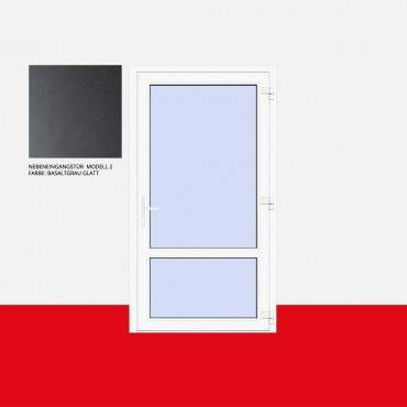 Nebeneingangstür Modell 2 Basaltgrau Glatt ? Bild 1