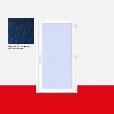 Nebeneingangstür Modell 1 Brillantblau ? Bild 1