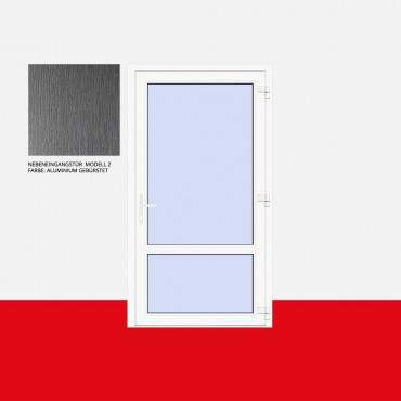 Nebeneingangstür Modell 2 Aluminium Gebürstet ? Bild 1