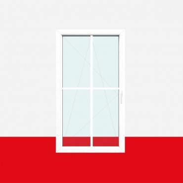 Kreuzsprossenfenster Typ 4 Felder Weiß 18mm Kreuzsprosse 1 flg. Dreh-Kipp Fenster ? Bild 2