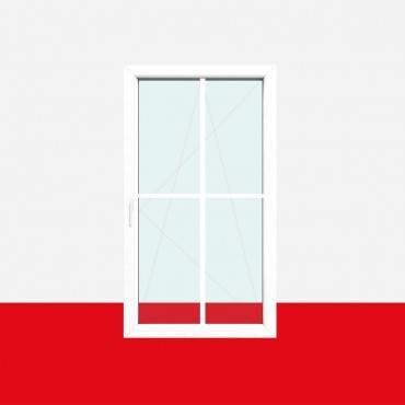 Kreuzsprossenfenster Typ 4 Felder Weiß 18mm Kreuzsprosse 1 flg. Dreh-Kipp Fenster ? Bild 1