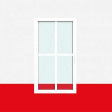 Kreuzsprossenfenster Typ 4 Felder Weiß 26mm Kreuzsprosse 1 flg. Dreh-Kipp Fenster ? Bild 2