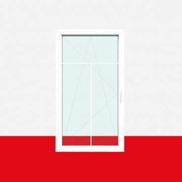 Sprossenfenster Typ 3 Felder Weiß 8mm T-Sprosse 1 flg Dreh-Kipp Kunststofffenster ? Bild 2