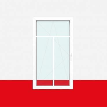 Sprossenfenster Typ 3 Felder Weiß 18mm T-Sprosse 1 flg Dreh-Kipp Kunststofffenster ? Bild 2