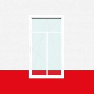 Sprossenfenster Typ 3 Felder Weiß 18mm T-Sprosse 1 flg Dreh-Kipp Kunststofffenster ? Bild 1