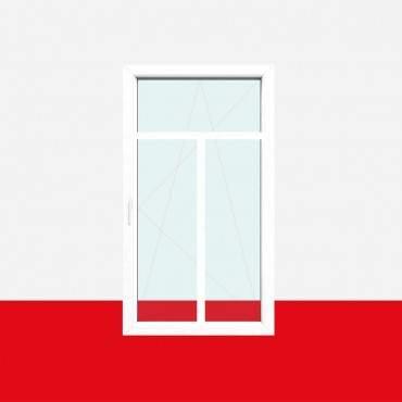 Sprossenfenster Typ 3 Felder Weiß 26mm T-Sprosse 1 flg Dreh-Kipp Kunststofffenster ? Bild 1