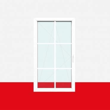 Sprossenfenster Typ 6 Felder Weiß 18mm SZR Sprosse 1 flg. Dreh-Kipp Fenster ? Bild 2