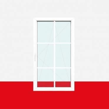 Sprossenfenster Typ 6 Felder Weiß 18mm SZR Sprosse 1 flg. Dreh-Kipp Fenster ? Bild 1