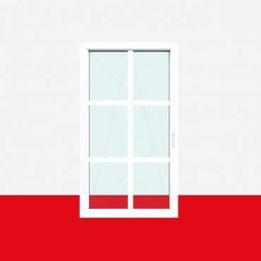 Sprossenfenster Typ 6 Felder Weiß 26mm SZR Sprosse 1 flg. Dreh-Kipp Fenster ? Bild 2