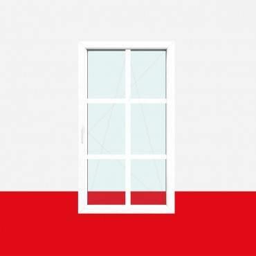 Sprossenfenster Typ 6 Felder Weiß 26mm SZR Sprosse 1 flg. Dreh-Kipp Fenster ? Bild 1