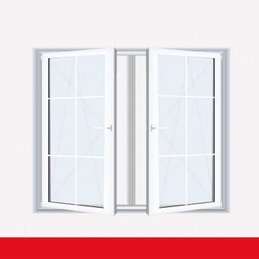 Sprossenfenster Typ 6 Felder Weiß 2 flg. DK-DK Kunststofffenster 8mm SZR Sprosse ? Bild 1