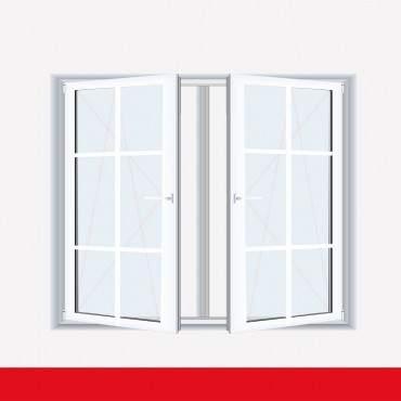 Sprossenfenster Typ 6 Felder Weiß 2 flg. DK-DK Kunststofffenster 18mm SZR Sprosse ? Bild 1