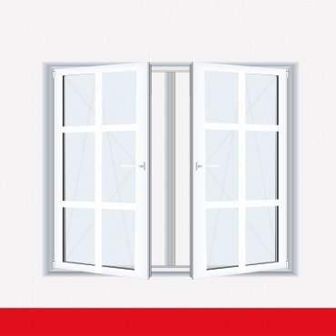 Sprossenfenster Typ 6 Felder Weiß 2 flg. DK-DK Kunststofffenster 26mm SZR Sprosse ? Bild 1