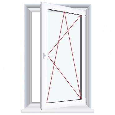 Fenster Delta - 1 flg. Dreh Kipp  Kunststofffenster Ornament Delta ? Bild 5
