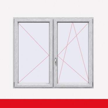 Stulpfenster Aluminium Gebürstet beidseitig 2 flg. D/DK Kunststofffenster mit Stulp ? Bild 2