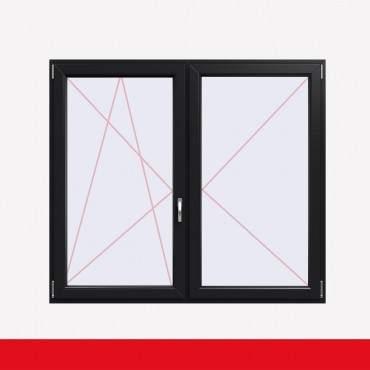 Stulpfenster Anthrazitgrau Glatt beidseitig 2 flg. D/DK Kunststofffenster mit Stulp ? Bild 1