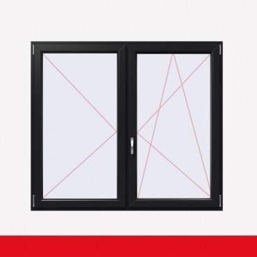 Stulpfenster Anthrazitgrau Glatt beidseitig 2 flg. D/DK Kunststofffenster mit Stulp ? Bild 2