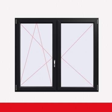Stulpfenster Anthrazitgrau  beidseitig 2 flg. D/DK Kunststofffenster mit Stulp ? Bild 1