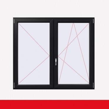 Stulpfenster Anthrazitgrau  beidseitig 2 flg. D/DK Kunststofffenster mit Stulp ? Bild 2