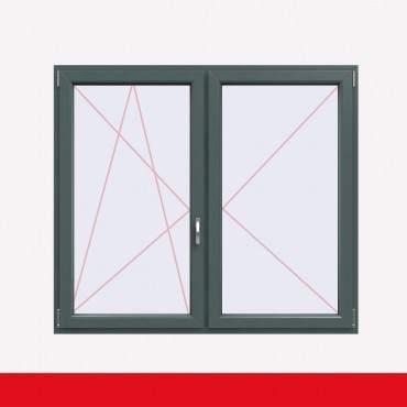 Stulpfenster Basaltgrau beidseitig 2 flg. D/DK Kunststofffenster mit Stulp ? Bild 1
