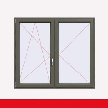 Stulpfenster Basaltgrau Glatt beidseitig 2 flg. D/DK Kunststofffenster mit Stulp ? Bild 1