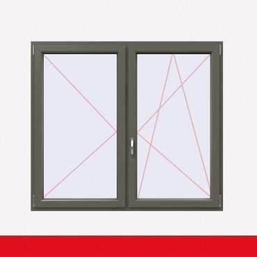 Stulpfenster Basaltgrau Glatt beidseitig 2 flg. D/DK Kunststofffenster mit Stulp ? Bild 2