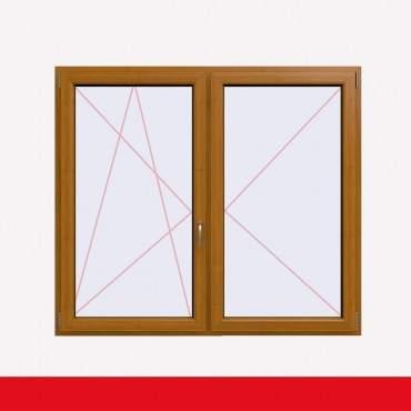 Stulpfenster Bergkiefer beidseitig 2 flg. D/DK Kunststofffenster mit Stulp ? Bild 1
