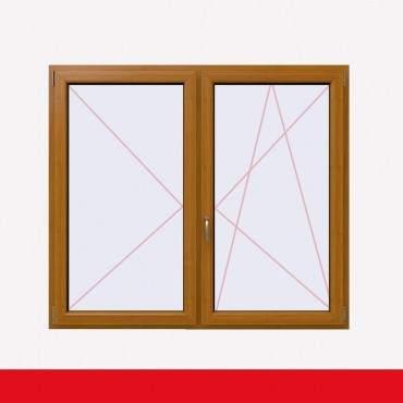 Stulpfenster Bergkiefer beidseitig 2 flg. D/DK Kunststofffenster mit Stulp ? Bild 2