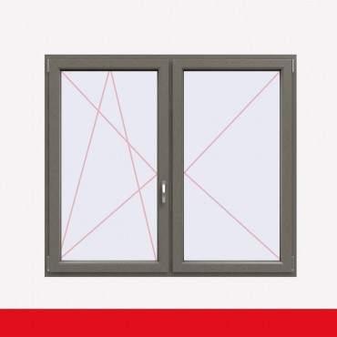 Stulpfenster Betongrau beidseitig 2 flg. D/DK Kunststofffenster mit Stulp ? Bild 1