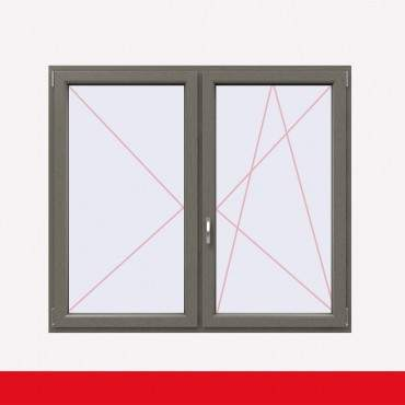 Stulpfenster Betongrau beidseitig 2 flg. D/DK Kunststofffenster mit Stulp ? Bild 2