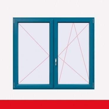 Stulpfenster Brillantblau beidseitig 2 flg. D/DK Kunststofffenster mit Stulp ? Bild 2