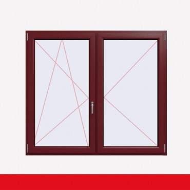 Stulpfenster Cardinal Platin beidseitig 2 flg. D/DK Kunststofffenster mit Stulp ? Bild 1
