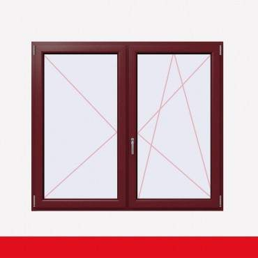 Stulpfenster Cardinal Platin beidseitig 2 flg. D/DK Kunststofffenster mit Stulp ? Bild 2