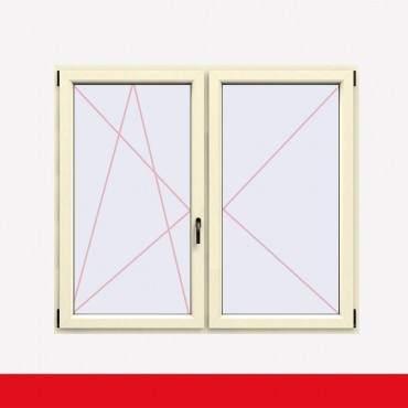 Stulpfenster Cremeweiss beidseitig 2 flg. D/DK Kunststofffenster mit Stulp ? Bild 1