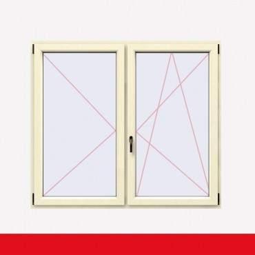 Stulpfenster Cremeweiss beidseitig 2 flg. D/DK Kunststofffenster mit Stulp ? Bild 2