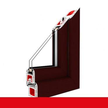 2-flügliges Kunststofffenster Braun Maron DL/DKR o. DKL/DR mit Stulp ? Bild 1