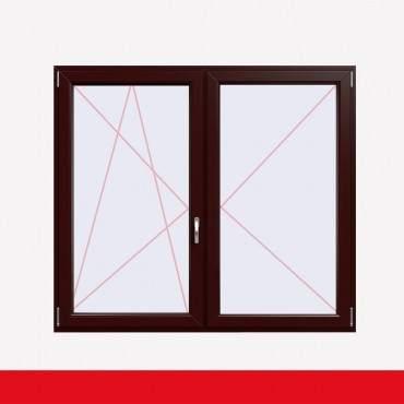 Stulpfenster Braun Maron beidseitig 2 flg. D/DK Kunststofffenster mit Stulp ? Bild 1