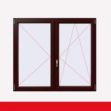 Stulpfenster Braun Maron beidseitig 2 flg. D/DK Kunststofffenster mit Stulp ? Bild 2