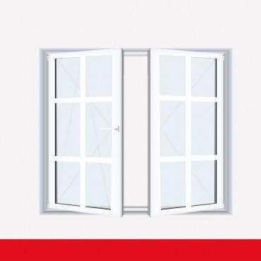 Sprossenfenster Typ 6 Felder Weiß 2 flg. Stulp  Kunststofffenster 26mm SZR Sprosse ? Bild 2