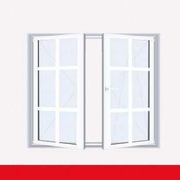 Sprossenfenster Typ 6 Felder Weiß 2 flg. Stulp  Kunststofffenster 26mm SZR Sprosse ? Bild 1