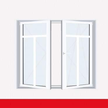 Sprossenfenster Typ 3 Felder Weiß 2 flg. Stulp Kunststofffenster 26mm T-Sprosse ? Bild 2