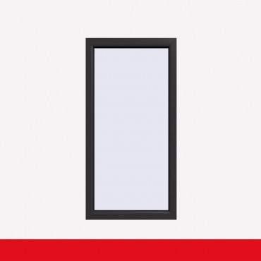 Balkonfenster Crown Platin (beidseitig) Festverglasung Fenster Fest im Rahmen