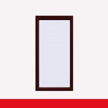 Balkonfenster Braun Maron (beidseitig) Festverglasung Fenster Fest im Rahmen ? Bild 1
