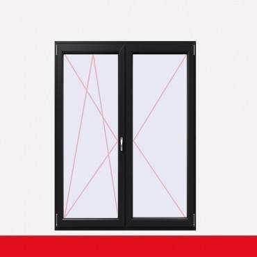 2-flüglige Balkontür Kunststoff Stulp Anthrazit Glatt beidseitig ? Bild 1