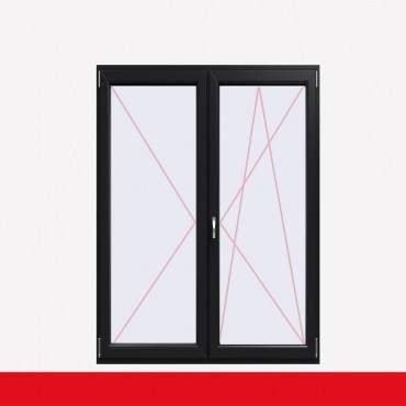 2-flüglige Balkontür Kunststoff Stulp Anthrazit Glatt beidseitig ? Bild 2