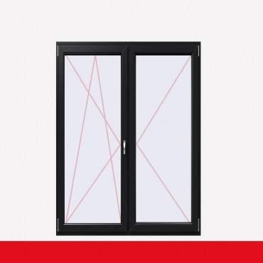 2-flüglige Balkontür Kunststoff Stulp Anthrazitgrau beidseitig ? Bild 1