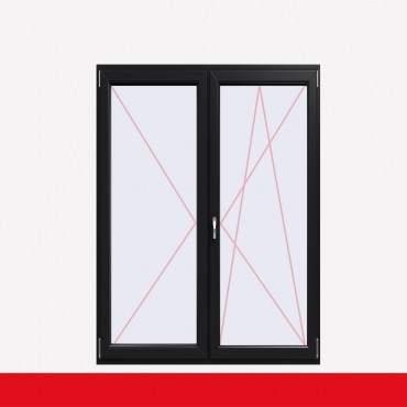 2-flüglige Balkontür Kunststoff Stulp Anthrazitgrau beidseitig ? Bild 2