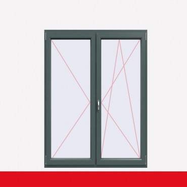 2-flüglige Balkontür Kunststoff Stulp Basaltgrau beidseitig ? Bild 2