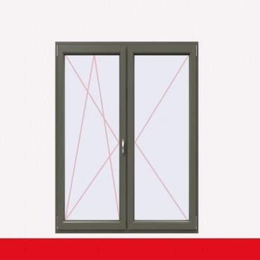 2-flüglige Balkontür Kunststoff Stulp Basaltgrau Glatt beidseitig ? Bild 1