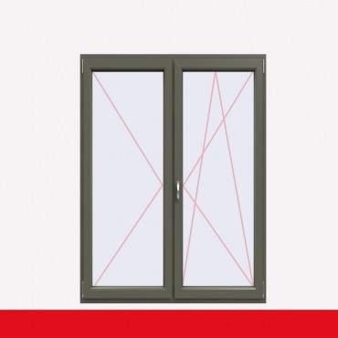 2-flüglige Balkontür Kunststoff Stulp Basaltgrau Glatt beidseitig ? Bild 2